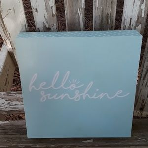 Hello sunshine wood box sign